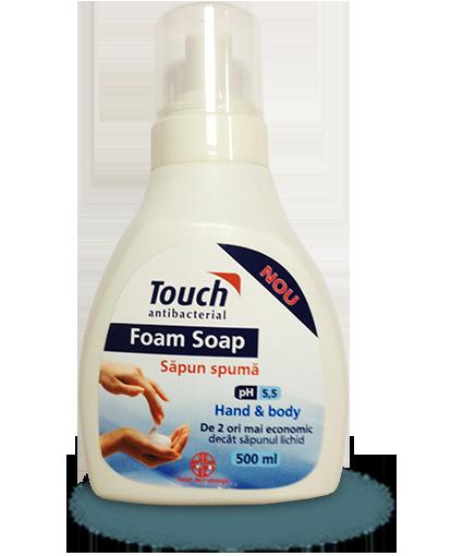 Sapun spuma antibacterian